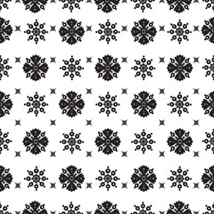 abstract ethnic seamless floral pattern design