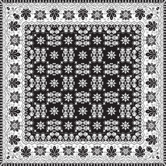abstract ethnic shawl floral pattern design