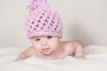 Beautiful newborn baby girl