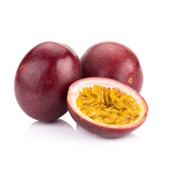 Passion fruit isolated on white background