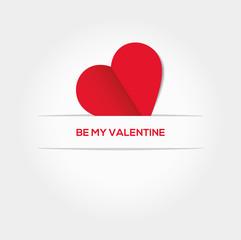 Valentinesday - schönes Vektorherz verschwindet im Papier - Herz - Valentine - Valentinstag