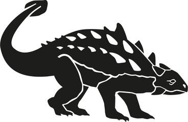 Dinosaur ankylosaurus with details