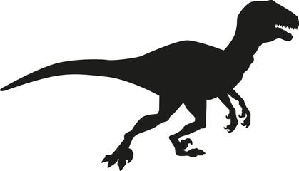 Dinosaur deinonychus silhouette