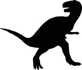 Dinosaur t-rex silhouette