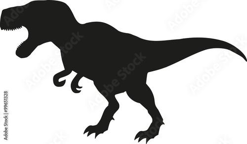 dinosaur tyrannosaurus silhouette stock image and royalty free rh en fotolia com t rex vector free t rex vector icon