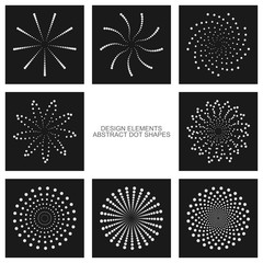 Dot shapes, vector set