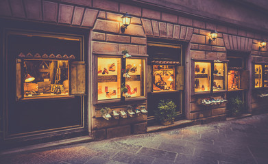 Shoes shop in Tuscany