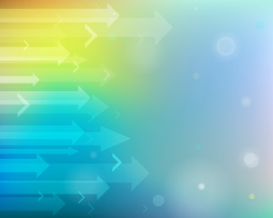 Colorful abstract background with arrows.