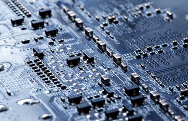 PCB Circuit Closeup Background