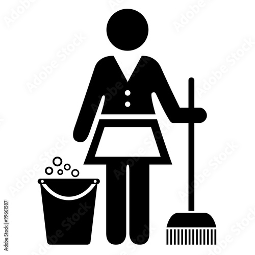 Quot Mop Cleaner Icon Quot Stock Image And Royalty Free Vector
