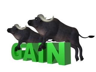 Illustration Double bull gain
