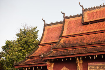 Temple Roof in Wat Xieng Thong