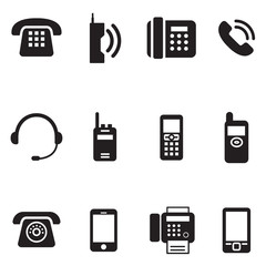 communication, call, phone vintage, retro telephone Vector Illus