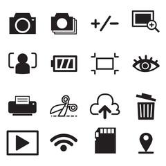 Camera mode icons illustration symbol Vector