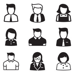 user,account, staff, employee maid icons vector illustration Sym