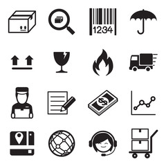 Logistic & delivery icon set Vector illustration.