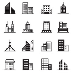 Building , tower, Architectural icons Vector illustration symbol