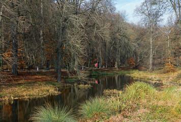 "Kamianka river in park ""Sofiyivka"". Uman city, Central Ukraine"