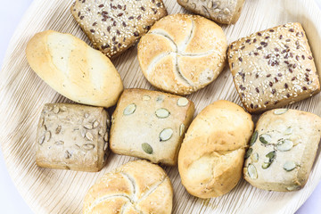 Breads and buns assortment