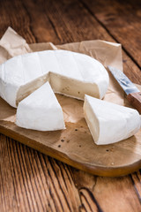 Pieces of creamy Camembert