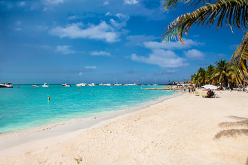 Norten beach on Isla Mujeres island near Cancun in Mexico.