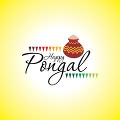 Pongal indian festival vector illustration