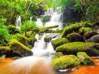 Printed roller blinds Waterfalls Mundang waterfall, a beautiful waterfall in Thailand