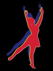 woman dancer,vector illustration