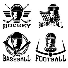 vintage sport vector labels set