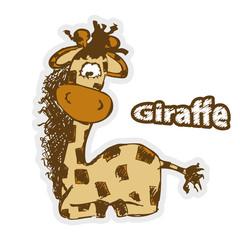 Fun Cartoon Giraffe