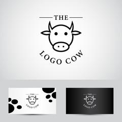 cow vector logo icon