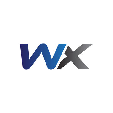 Simple Modern letters Initial Logo wx