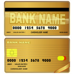 Templates of credit cards design.