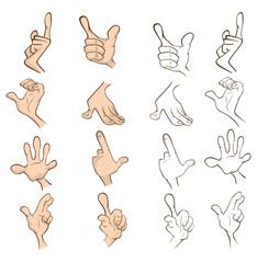 Set of hands for you design. Cartoon