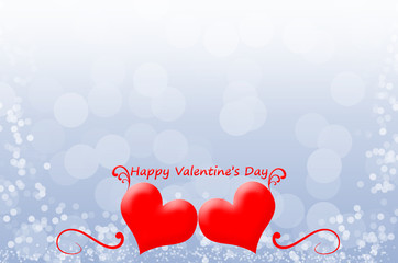happy valentine's day red Heart on the red background