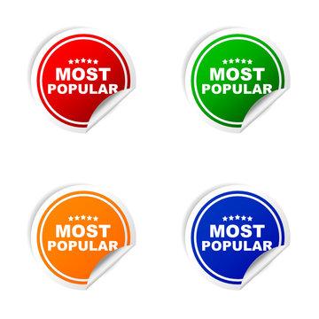 sticker of most popular vector