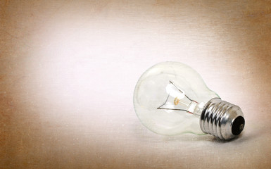 Old lightbulb isolated on a white background