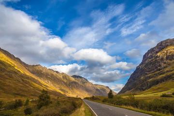 The road to the Scottish Highlands - Glencoe, Scotland, UK