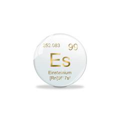 Periodensystem Kugel - 99 Einsteinium