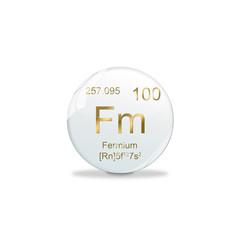 Periodensystem Kugel - 100 Fermium