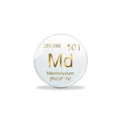 Periodensystem Kugel - 101 Mendelevium