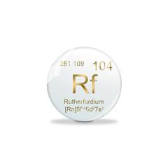 Periodensystem Kugel - 104 Rutherfordium