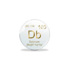 Periodensystem Kugel - 105 Dubnium