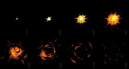 Explode effect animation