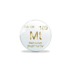 Periodensystem Kugel - 109 Meitnerium
