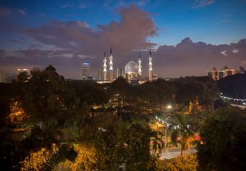 Blue Hour At Mosque(Masjid Sultan Salehuddin Abdul Aziz Shah).So