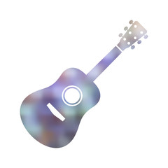 Single colorful blurred guitar