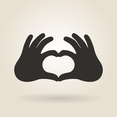 Hand Gesture a Sign of Heart