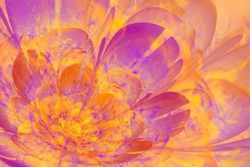 Orange and violet Fractal flower