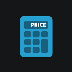 Calculator single flat icon.